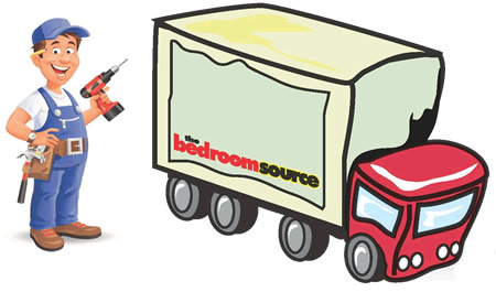 Bedroom Source delivery truck