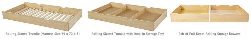 rolling storage trundle