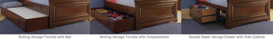rolling storage trundle